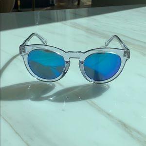 Diff Eyeware Dime II Wild & Free Blue Mirror Lens